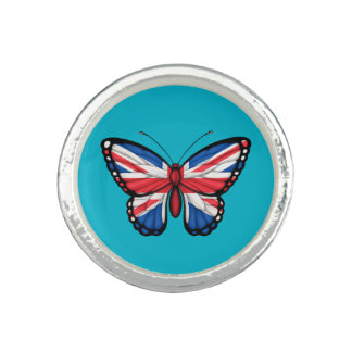 British Butterfly Flag Ring