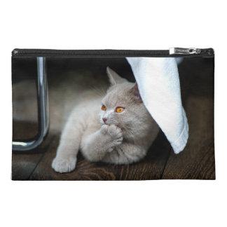British cat - Funny cat - gray cat Travel Accessory Bag