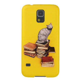 British Cat on a stack of books Galaxy S5 Case