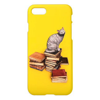 British Cat on a stack of books iPhone 7 Case