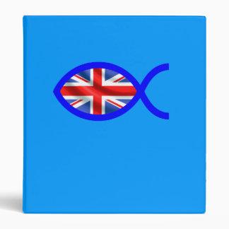 British Christian Fish Symbol Flag Binder