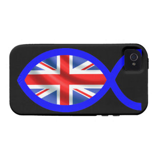British Christian Fish Symbol Flag Case For The iPhone 4