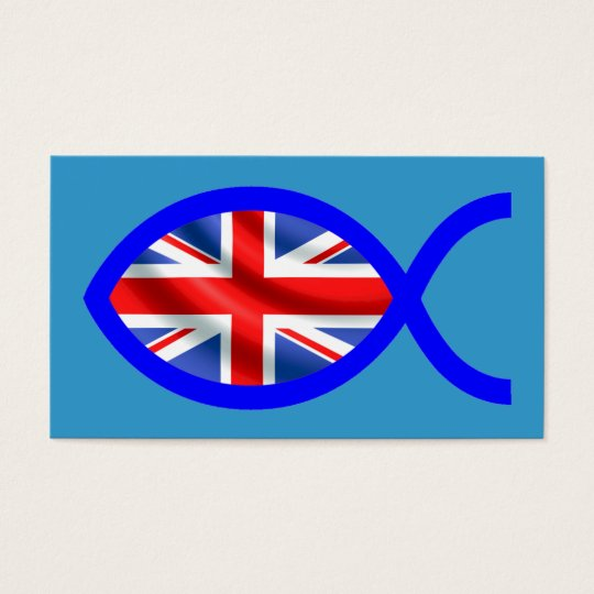 British Christian Fish Symbol Flag Tract Card /