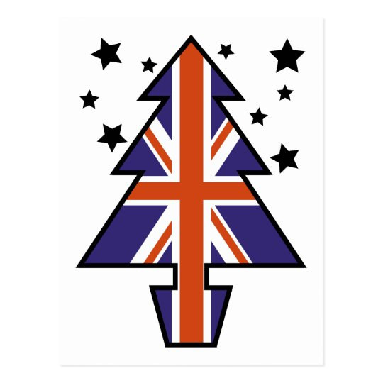 British Christmas Tree Postcard