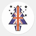British Christmas Tree Sticker