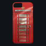 """British City of London Red Phone Booth iPhone 8 iPhone 8/7 Case<br><div class=""""desc"""">Encase your smart phone in fun eye-catching original artwork! My digitally painted red telephone box design will connect you straight to the City of London in an instant. Whether you are a Brit abroad or a tourist on a visit, you&#39;ll remember Great Britain no matter where you are in the...</div>"""