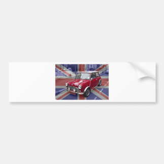 British Classic Mini car Bumper Sticker