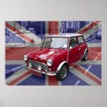 British Classic Mini car Posters