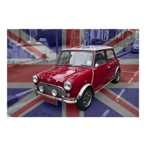 British Classic Mini car Print