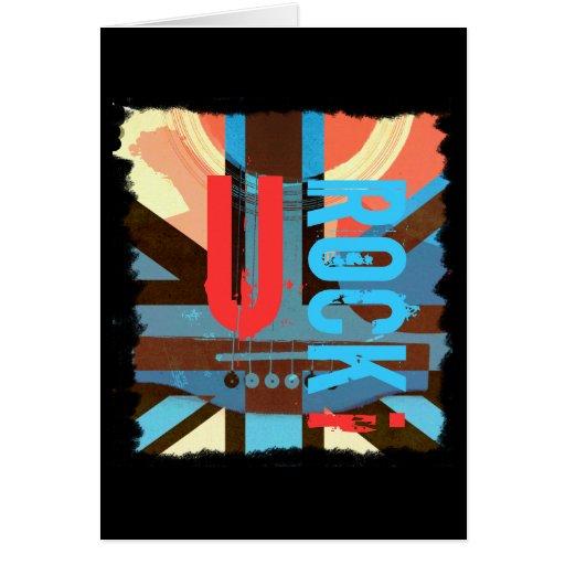 British classic rock - acoustic guitar card