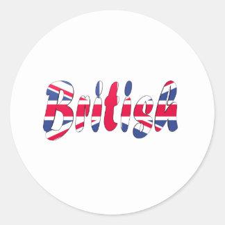 British Classic Round Sticker