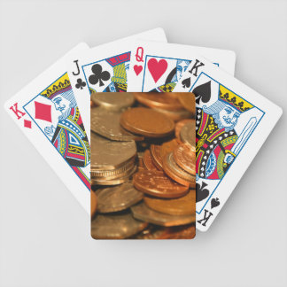 British Coin Money Bicycle Playing Cards