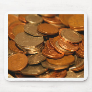 British Coin Money Mouse Pad