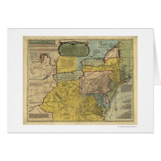 British Colonies America Map - 1771 Greeting Cards