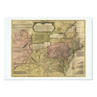 British Colonies in America Map (1765) Card