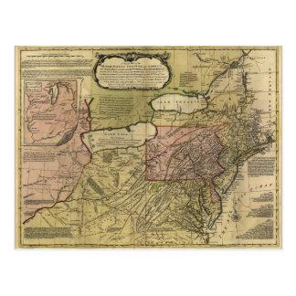 British Colonies in America Map (1765) Postcard
