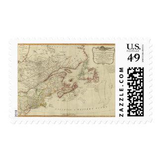 British colonies North America, New England Postage