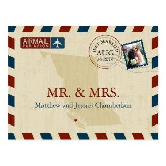 British Columbia Airmail | Wedding Thank You Postcard