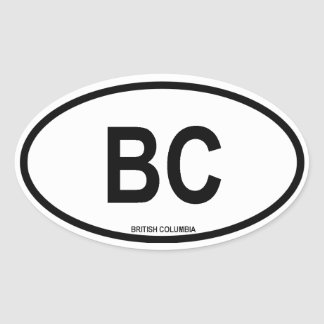 "British Columbia ""BC"" Oval Stickers"
