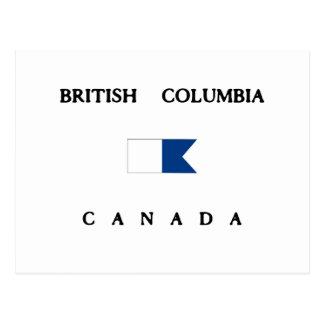 British Columbia Canada Alpha Dive Flag Post Card