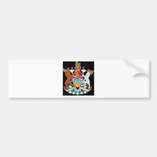 British Columbia Canada Coat of Arms Bumper Sticker