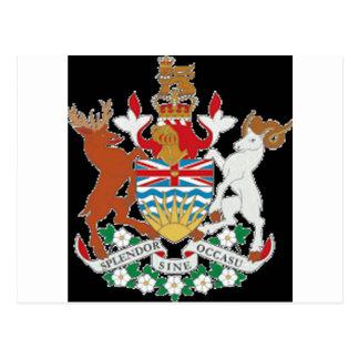 British Columbia (Canada) Coat of Arms Postcard