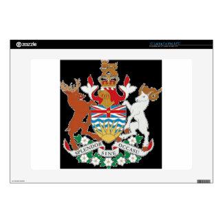 """British Columbia (Canada) Coat of Arms 15"""" Laptop Decals"""