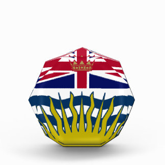 British Columbia Canada Flag Acrylic Award