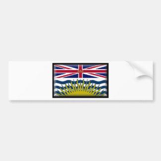 British Columbia Canada Flag Bumper Sticker