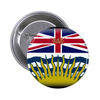 British Columbia (Canada) Flag Pinback Button