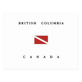 British Columbia Canada Scuba Dive Flag Postcard