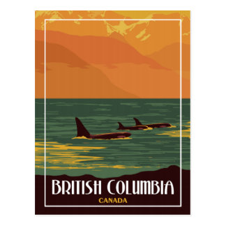 British Columbia Canada - Vintage Travel Postcard