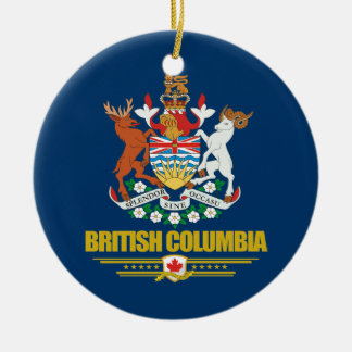British Columbia COA Ceramic Ornament