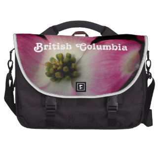 British Columbia Dogwood Laptop Messenger Bag