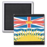 BRITISH COLUMBIA FLAG 2 INCH SQUARE MAGNET