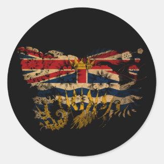 British Columbia Flag Classic Round Sticker