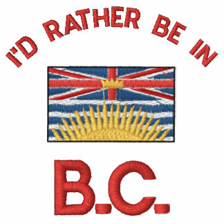 British Columbia Flag Embroidered on T shirt