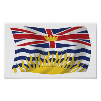 British Columbia Flag Poster Print