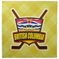 British Columbia Hockey Flag Cloth Napkin