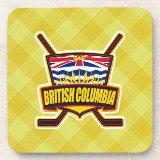 British Columbia Hockey Flag Cork Coasters