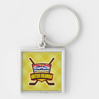 British Columbia Hockey Flag Keychain