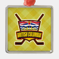 British Columbia Hockey Flag Metal Ornament