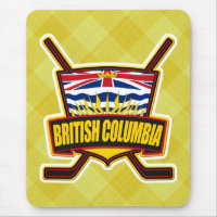British Columbia Hockey Flag Mouse Pad