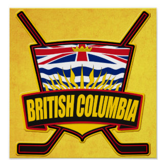 British Columbia Hockey Flag Posters