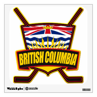 British Columbia Hockey Flag Wall Sticker