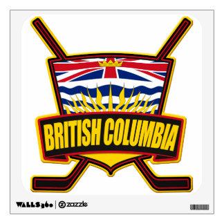 British Columbia Hockey Flag Wall Sticker