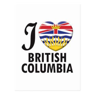 British Columbia Love Post Cards