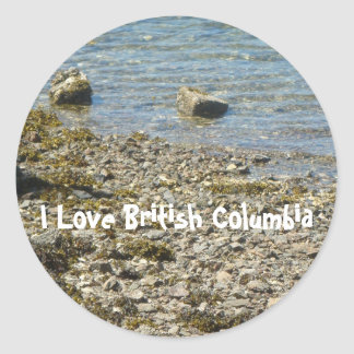 British Columbia Rocks Classic Round Sticker