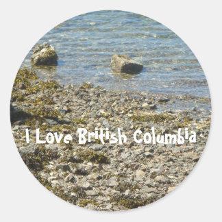 British Columbia Rocks Classic Round Sticker