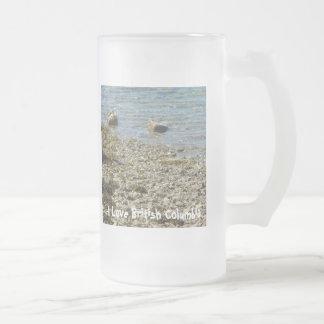 British Columbia Rocks Frosted Glass Beer Mug